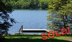Woodridge Lake Waterfront Lot CT $995,000